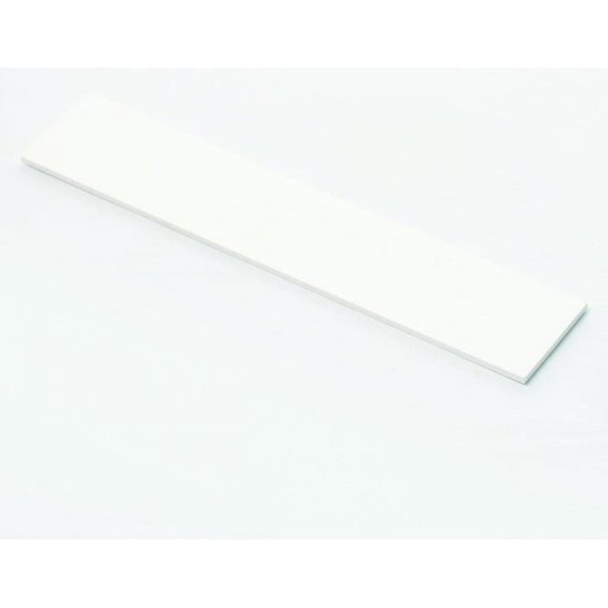 Stone Resin Matte White Upstand Splashback For Bathroom Basin or Counter tops 1200 X 100 X 6mm