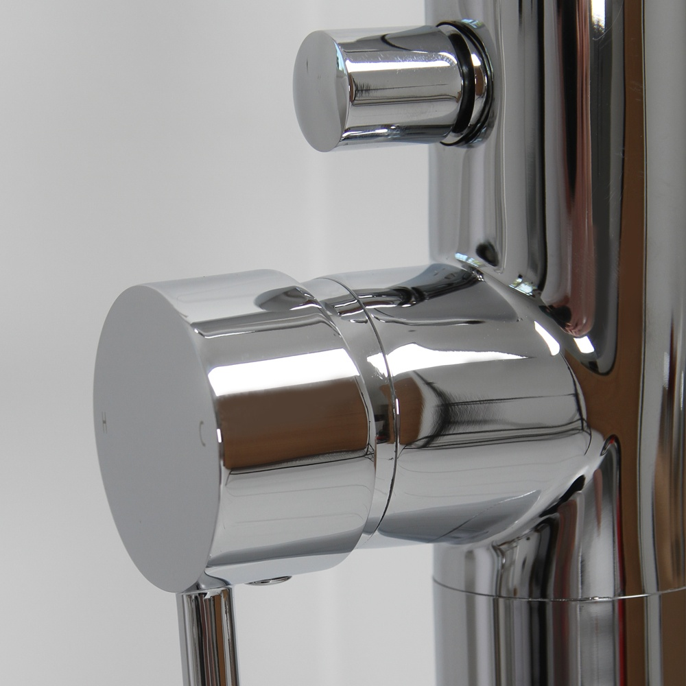 lusso stone tall bathroom tap floorstanding tap round tap