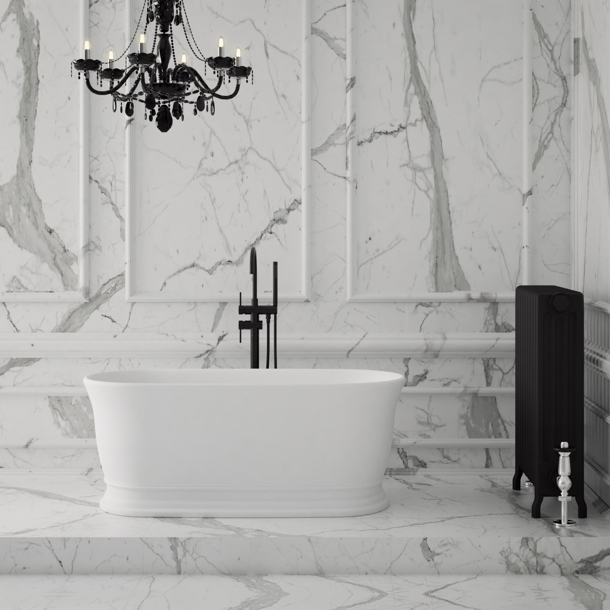 Lusso stone moritz traditional stone resin solid surface for Bath 1800