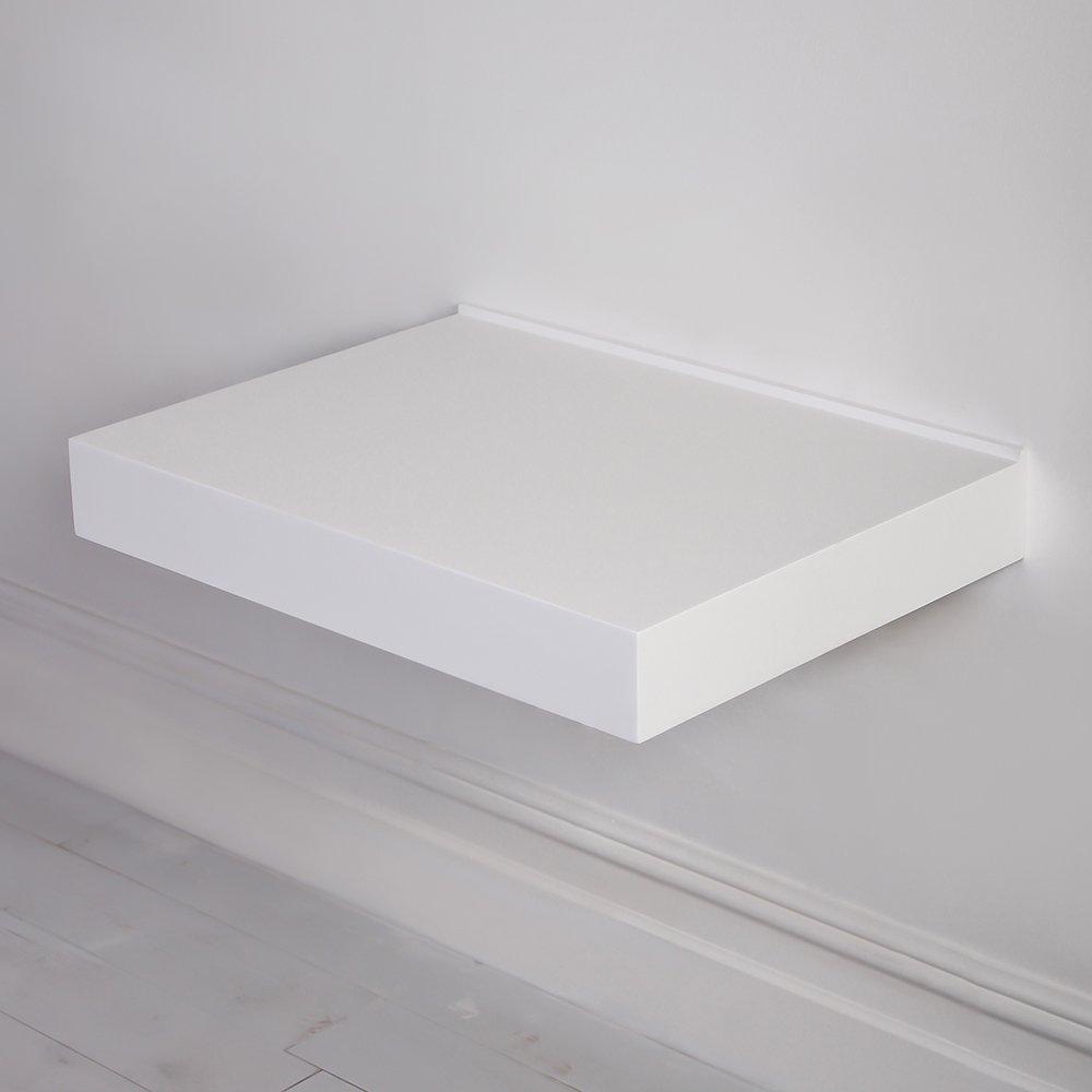 Lusso Stone Wall Hung Slimline Countertop Basin Shelf 660 Vanity Units