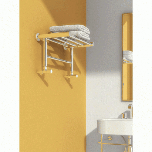 Troisi modern polished stainless steel towel radiator
